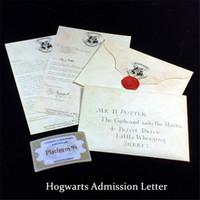 coleção de fãs venda por atacado-Carta de admissão de Hogwarts criativo Coleção de Envelope retrô de Harry Potter para fãs de Harry Potter