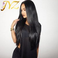 Wholesale full laced wigs resale online - Malaysian Straight Hair Natural Hairline Full Lace With Baby Hair Medium Size Lace Cap Lace Front Wigs