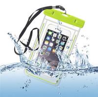 телефоны samsung china оптовых-Прозрачная сумка Водонепроницаемый чехол для мобильного телефона Samsung 5C 7 I Phone 6 Plus Чехол Glow Dark Water Proof Сумки Защитный чехол Китай