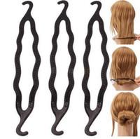 pony schwänze kunststoff großhandel-Magic Hair Pony Schweif Maker Kunststoff Haar Styling Brötchen Maker Shaper Braid Halter Clip Twist Werkzeug Haar Twist Styling Clip