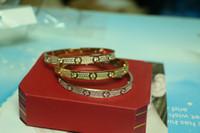 bracelet en diamant achat en gros de-Haute qualité complète avec diamant CZ Marque Amour Vis H Bracelet Femmes manchette cater amour bracelets Pulseira Feminina Masculin avec boîte d'origine