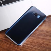 Wholesale Usb Real 4g - Goophone S8 plus 6.2 inch Full Curve Screen Real Fingerprint Quad Core MTK6580 Ram 1GB Rom 8G Dual Sim 3G Show 128gb 4g Cellphones Unlocked