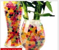 water ball venda por atacado-Colorido Pérola em forma de cristal Soil Water Beads Bolas Deco Crystal Mud Boll Crystal Plant Soil Beads 2.5mm 3g
