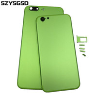 Wholesale Housing For Iphone Green - Newest Green Back Cover Housing For iPhone 6 6s Like 7 style Metal Back Battery Door Cover Replacement For Iphone 6 Plus