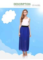 Wholesale Wholesale Natural Large Crystals - 2017 free postage fashion women's new factory explosion loose waist sexy large size chiffon half skirt long skirt women's wholesale