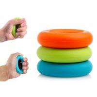 Wholesale Strength Grip Rubber Ring - 1Pcs 7cm Diameter Strength Hand Grip Ring Muscle Power Training Rubber Ring Exerciser Gym Expander Gripper Strength Finger Ring