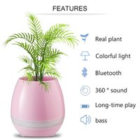 Leadka Wasserdichte grüne Pflanze Smart Bluetooth Lautsprecher Klavier Sound Blumentöpfe Home Office Dekoration Real Green Pflanze Musik Vase Free Ship