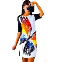 ingrosso casuale estate veste porcellana-All'ingrosso- Prezzo basso Abito stampa Moda Vestidos de Festa Renda Vintage Summer Casual Abbigliamento donna Mini abiti femminili economici Cina