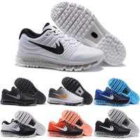 Drop Shipping Atacado Sapatos de corrida Men Women Air Cushion 2017 Boots Sneakers baratos Alta qualidade New Color Sports Shoes Tamanho 7-12
