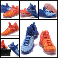 Wholesale Cheaper Kd Shoes - 2017 New KD9 What the KD 9 Fire & Ice Basketball Shoes Men Cheap Kds Kevin Durant 9 Sports Sneakers Size 40-46 for sale