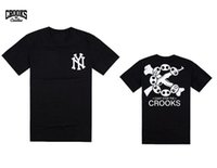 Wholesale Men Crooks T Shirt - 2017 Brand Summer Style Crooks And Castles T Shirts Men Cotton O Neck Man T-Shirt Hip Hop Mens t-shirt