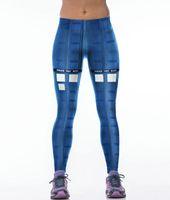 kutu filmleri toptan satış-Doctor Who pantolon Guard kutusu sıkı Film booth kadınlar spor giyim Kız spor giyim Spor eğitimi sportwear Egzersiz pantolon