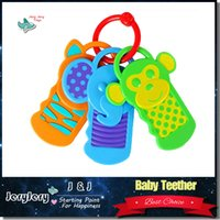 Cartoon Monkey <b>Elephant Bear</b> Baby Teether Brincadeira bonito Brinquedo Educacional Segurança Cuidados Teether Clique Clack Keys Color Perception