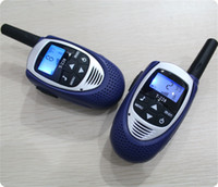 Wholesale Wholesale Walky Talky - Blue licence free kids walkie talkie pair mini size portable radio CB UHF talky walky T228 PMR 446mhz FRS GMRS 500M with earpiece charger
