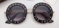 Wholesale Brand Inspired - Women Round Balck 0113s Sunglasses Designer Luxury Fashion Inspired Sunglasses Brand New with Case