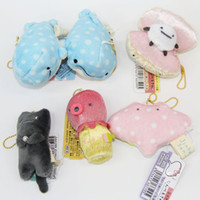 Wholesale Octopus Plush Animals - NEW 6 Style SAN-X Blue Whale Toy Stuffed Plush Toys Sea Animal Octopus Plush Toy keychain ( 10pcs Lot   Size : 7cm )