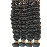 Wholesale Wholesale Process Hair - Reasonable price Brazilian non-remy cheap human hair extensions natural color deep wave curly hair weaves tangle free no shedding
