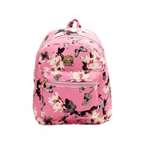 Vente en gros- New Fashion 2016 Femmes PU Leather Daffodils Flower Printing Backpack Travel School Leisure School Backpack