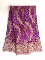 Wholesale Organza Lace Yard - JSDXH5-1 African lace fabric textiles,african organza lace fabric 5 yards whole sale
