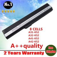 Wholesale Asus K52f Laptop - Wholesale-[Special Price] new 8 cells laptop battery for Asus A52 A52J K42 K42F K52F K52J A31-K52 A32-K52 A41-K52 A42-K52 free shipping