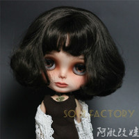Wholesale Blythe Hair - [NBL118] Free Shipping Neoblythe Doll # Black short Hair Blythe Doll fit for make up doll 30cm High for Retail