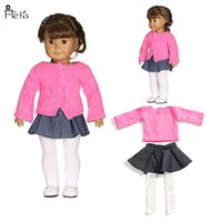 Wholesale Dolls Clothes 18 - 18 inch American girl Jacket + skirt + stockings Fashion leisure clothing baby Birthday gift doll accessories