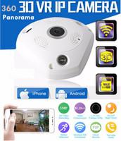Wholesale Camera Wifi Wireless 1pcs - 360 Degree Panorama VR Camera HD 1080P  3MP Wireless WIFI IP Camera Home Security Surveillance System Hidden Webcam CCTV P2P MOQ:1PCS