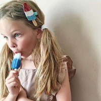 Wholesale Ice Cream Clips - New ice cream Children's hair clips baby girls Hairpins paillette Alligator Clips Toddler Barrettes Children Hair Accessories Kids bows A549