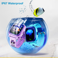Wholesale Korean Kids Swimming - 2017 New Arrival DF25 Child Smartwatch IP67 Swim GPS Touch Phone smart watch SOS Call Location Device Tracker Kids Safe Anti-Lost Monitor