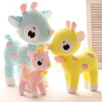 Wholesale Deer Plush Doll - Wholesale- Free Shipping 25cm=9.8'' Color deer stuffed animal doll,Spots sika deer plush toys for kids baby toys,