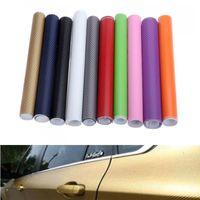 Wholesale Carbon Sticker For Mobile Phones - 3D Carbon Fiber Decals for Car Interior Exterior Accessories Change Color Whole Body Vehicle Sticker 127 cm Ipad Laptop Mobile Phone