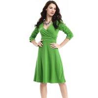 elegante karriere frau knie kleid großhandel-Frauen-Arbeits-Kleid-Karriere-Damen-Frauen Knie-Länge OL Art-Kleid-reizvolles elegantes Bleistift-Kleid 20 Farben zu wählen