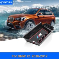 Wholesale Console Decorations - For BMW X1 2016 2017 LHD Car Center Console Armrest Storage Box Covers Interior Decoration Auto Accessories