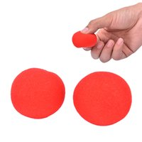 Vente en gros - 4.5cm Finger Magic Props Soft Red Eponge Ball Close-UP Street Classical Illusion Stage Comedy Tricks 1Pcs