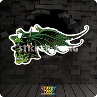 Flying Skull STICKER (ripetizione bici skateboard deck notebook laptop car wall Moto stickerbomb Fixed Gear)
