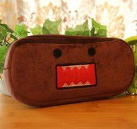 Wholesale Domo Pens - Wholesale- Japan DOMO KUN 20CM Cotton School Stationery Kids Pen Pencil BAG Case Plush ; Lady Coin Cosmetics Purse & Wallet Pouch BAG