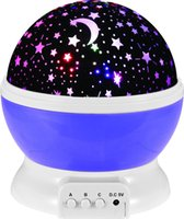 empfindliche bewegungssensorlampe großhandel-Nachtlicht Sternprojektor 360 Grad-Umdrehung 3 Modell 4 LED-Birnen Romantische Hauptdekoration DC5V AAA Batteriebetrieben für Kinder Kinder