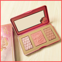 Wholesale full like - Free Shipping by ePacket High Quality Sweet Peach GLOW 3 Color Blush Powder Brands Eyeshadow Face Make Up Cosmetics Smell like Peaches+Gifts