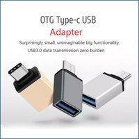vendas de macbook venda por atacado-Venda quente USB 3.1 Tipo C Adaptador OTG Macho Para USB 3.0 Feminino Conversor Adaptador De Metal Para Dispositivos Tipo-C Letv Macbook