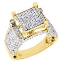 Wholesale Natural Diamond Ring Ct - 10K Yellow Gold Ladies Natural Diamond Wedding Engagement Pave Ring 1.05 Ct.
