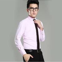 venta de esmoquin de novio largo al por mayor-Venta caliente camisa formal de los hombres camisa de manga larga por encargo del novio camisa blanca cómoda prom camisa de esmoquin