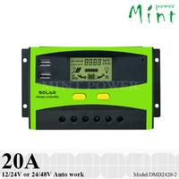48v ladungscontroller großhandel-20A PWM Solarladeregler Dual USB-Port 12V / 24V oder 24V / 48V Autoarbeit umanized LCD-Anzeige, dreistufiges Aufladen
