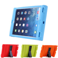 Wholesale Child Kid Ipad Case Cover - Unique Shockproof Soft Silicone Stand Case For Apple iPad 2 3 4 air iPad mini Protective Drop Proof Cover For Children Kids Students