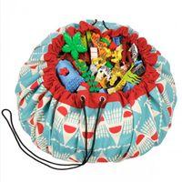 Wholesale Big Beard Bag - INS Hot Style Multi-function Beard Colorful Ling Hanging Bags Toys Big Storage Panda Play Mat Portable Organizer 140cm machine washing