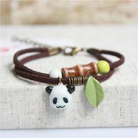 Wholesale Gifts For Children Wholesale China - Wholesale Handmade Bangles Bracelets Cute Animals Bracelet Bangles Hand Made Ceramic Beads Folk-Custom Bracelets For Children 2017 Bangles