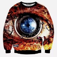 Wholesale Animal Elmo - Wholesale-[Elmo]2015 fashion new men hoodie 3d eye print casual hip hop sweatshirt men harajuku tracksuit men sudaderas polerones hombre