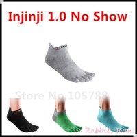 Wholesale Toe Socks Men Athletic - Injinji Performance 1.0 no show Toe Socks, Green, Blue, Grey, Black, Pink, 3 Pairs lot, the price for 1 Lot