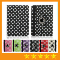 Wholesale Apple Ipad Covers Polka Dot - Polka Dot 360 Degree Rotating Magnetic PU Leather Stand Case Smart Cover For Apple iPad 2 3 4 5 6 Air Air2 Pro 9.7 Mini Mini4