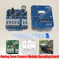 Wholesale Osd Pcb Board Camera - Zoom Camera Module Decoding Board BNC RS485 OSD Menu Controller PCB Button Control 9Pin Ribbon Cable Analog Block Camera Decode