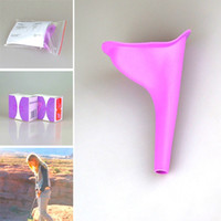 Wholesale Wholesale Toilet Urinals - Wholesale Women Portable Toilet Female Urinal Outdoor Camping Hiking Festival Urination Funnel Device Travel Silicone Stand Up Toilet Pee